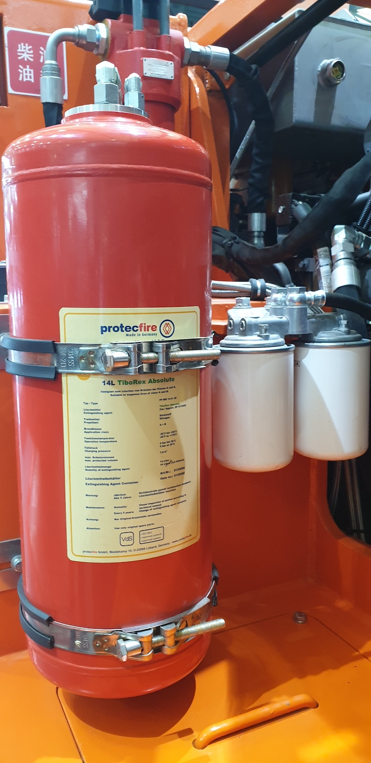 protecfire extinguish agent container with TiboRex Absolute special liquid extinguish agent
