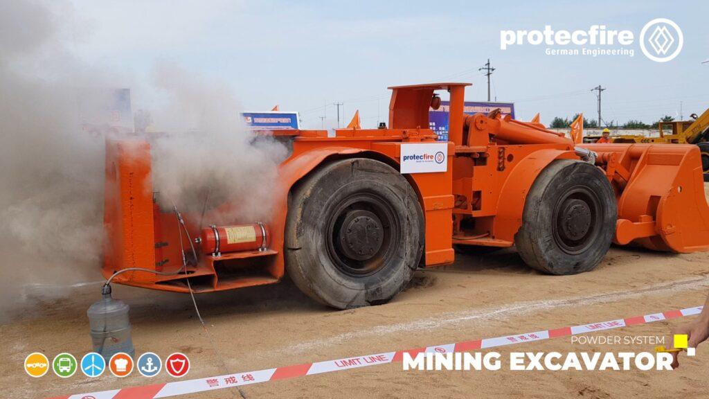 Mining Excavator Fire Test