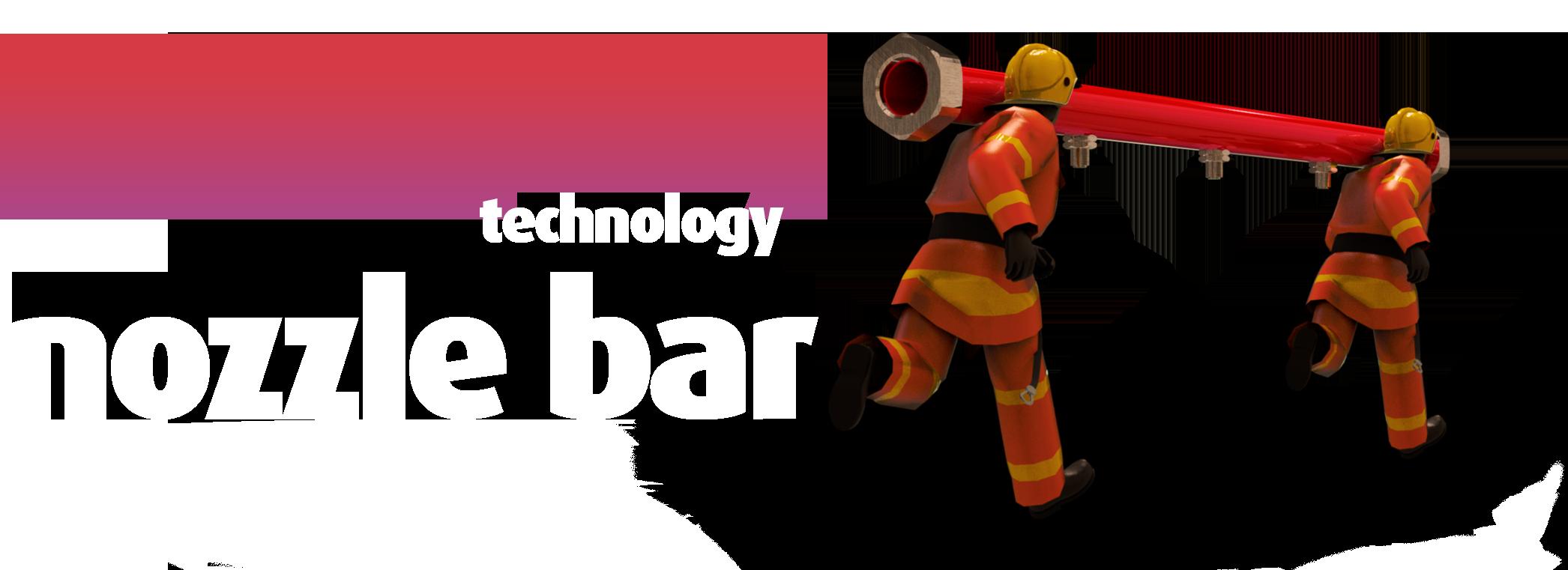 fire suppression systems - protecfire fine-spray technology nozzle bar